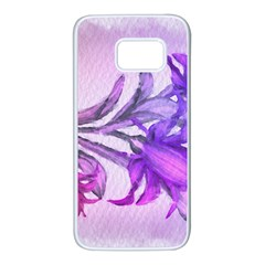 Flowers Flower Purple Flower Samsung Galaxy S7 White Seamless Case