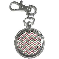 Chevron Blue Pink Key Chain Watches by snowwhitegirl
