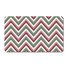 Chevron Blue Pink Magnet (rectangular) by snowwhitegirl