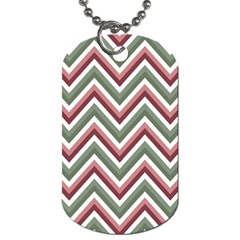 Chevron Blue Pink Dog Tag (two Sides) by snowwhitegirl