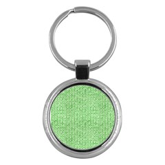 Knittedwoolcolour2 Key Chains (round)  by snowwhitegirl