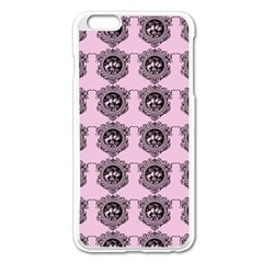 Three Women Pink Apple Iphone 6 Plus/6s Plus Enamel White Case by snowwhitegirl