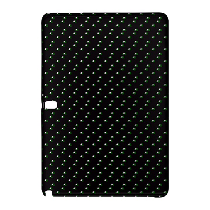 Pink Flowers On Black Samsung Galaxy Tab Pro 12.2 Hardshell Case