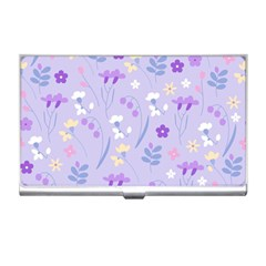 Violet,lavender,cute,floral,pink,purple,pattern,girly,modern,trendy Business Card Holders