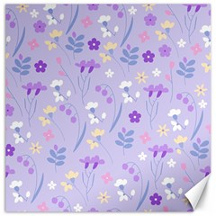 Violet,lavender,cute,floral,pink,purple,pattern,girly,modern,trendy Canvas 12  X 12   by 8fugoso