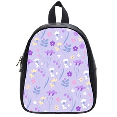 Violet,lavender,cute,floral,pink,purple,pattern,girly,modern,trendy School Bag (small) by 8fugoso