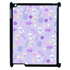 Violet,lavender,cute,floral,pink,purple,pattern,girly,modern,trendy Apple Ipad 2 Case (black) by 8fugoso