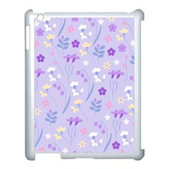Violet,lavender,cute,floral,pink,purple,pattern,girly,modern,trendy Apple Ipad 3/4 Case (white) by 8fugoso