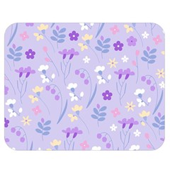 Violet,lavender,cute,floral,pink,purple,pattern,girly,modern,trendy Double Sided Flano Blanket (medium)  by 8fugoso