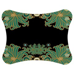 Black,green,gold,art Nouveau,floral,pattern Jigsaw Puzzle Photo Stand (bow) by 8fugoso