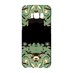 Black,green,gold,art Nouveau,floral,pattern Samsung Galaxy S8 Hardshell Case  by 8fugoso
