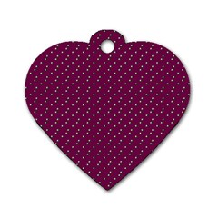 Pink Flowers Magenta Dog Tag Heart (two Sides) by snowwhitegirl