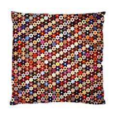 Mosaic Pattern Quilt Pattern Standard Cushion Case (one Side) by paulaoliveiradesign