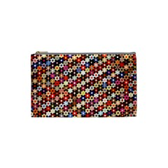 Mosaic Pattern Quilt Pattern Cosmetic Bag (small) by paulaoliveiradesign