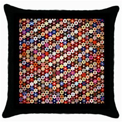 Mosaic Pattern Quilt Pattern Throw Pillow Case (black) by paulaoliveiradesign