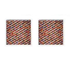 Mosaic Pattern Quilt Pattern Cufflinks (square) by paulaoliveiradesign