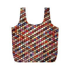 Mosaic Pattern Quilt Pattern Full Print Recycle Bag (m)