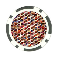 Mosaic Pattern Quilt Pattern Poker Chip Card Guard (10 Pack) by paulaoliveiradesign