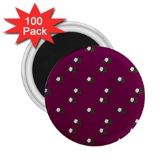 Pink Flowers Magenta Big 2 25  Magnets (100 Pack)  by snowwhitegirl