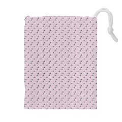 Pink Flowers Pink Drawstring Pouches (extra Large) by snowwhitegirl