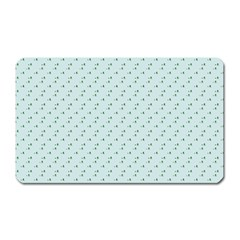Pink Flowers Blue Magnet (rectangular) by snowwhitegirl