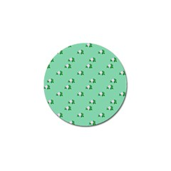 Pink Flowers Green Big Golf Ball Marker (4 Pack) by snowwhitegirl