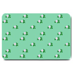 Pink Flowers Green Big Large Doormat