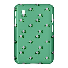 Pink Flowers Green Big Samsung Galaxy Tab 2 (7 ) P3100 Hardshell Case  by snowwhitegirl