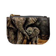 Elephant Mother And Baby Mini Coin Purses by ArtByThree