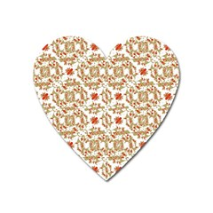 Colorful Modern Pattern Heart Magnet by dflcprints