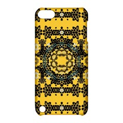 Ornate Circulate Is Festive In A Flower Wreath Decorative Apple Ipod Touch 5 Hardshell Case With Stand by pepitasart