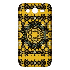 Ornate Circulate Is Festive In A Flower Wreath Decorative Samsung Galaxy Mega 5 8 I9152 Hardshell Case  by pepitasart