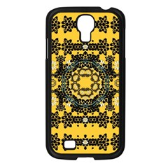 Ornate Circulate Is Festive In A Flower Wreath Decorative Samsung Galaxy S4 I9500/ I9505 Case (black) by pepitasart