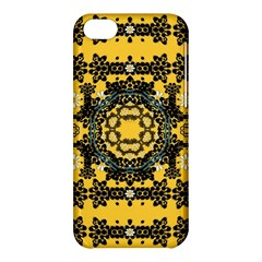 Ornate Circulate Is Festive In A Flower Wreath Decorative Apple Iphone 5c Hardshell Case by pepitasart