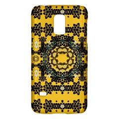 Ornate Circulate Is Festive In A Flower Wreath Decorative Galaxy S5 Mini by pepitasart