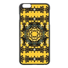 Ornate Circulate Is Festive In A Flower Wreath Decorative Apple Iphone 6 Plus/6s Plus Black Enamel Case by pepitasart