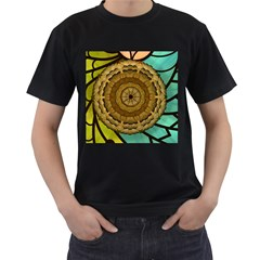 Kaleidoscope Dream Illusion Men s T-shirt (black) (two Sided) by Nexatart
