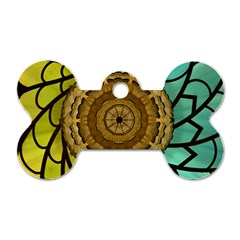 Kaleidoscope Dream Illusion Dog Tag Bone (one Side)