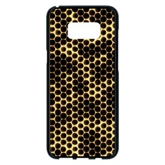 Honeycomb Beehive Nature Samsung Galaxy S8 Plus Black Seamless Case by Nexatart