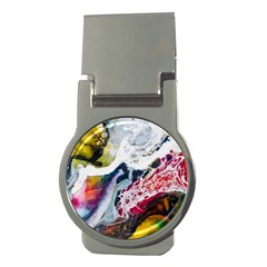 Abstract Art Detail Painting Money Clips (round)  by Nexatart