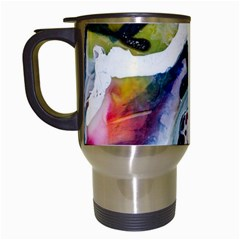 Abstract Art Detail Painting Travel Mugs (white) by Nexatart