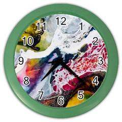 Abstract Art Detail Painting Color Wall Clocks