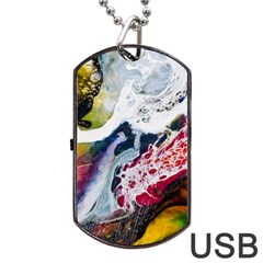 Abstract Art Detail Painting Dog Tag Usb Flash (one Side)