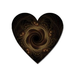 Beads Fractal Abstract Pattern Heart Magnet by Nexatart