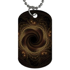 Beads Fractal Abstract Pattern Dog Tag (two Sides)