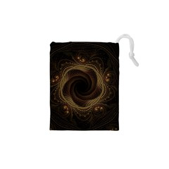 Beads Fractal Abstract Pattern Drawstring Pouches (xs)