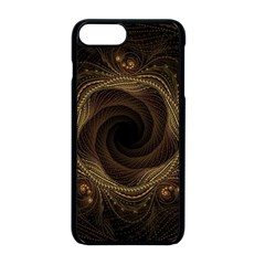Beads Fractal Abstract Pattern Apple Iphone 8 Plus Seamless Case (black)