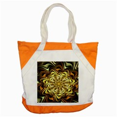 Fractal Flower Petals Gold Accent Tote Bag by Nexatart