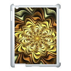 Fractal Flower Petals Gold Apple Ipad 3/4 Case (white)