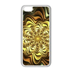 Fractal Flower Petals Gold Apple Iphone 5c Seamless Case (white) by Nexatart